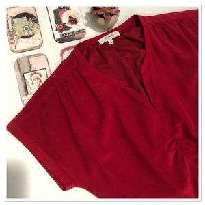 Madewell Silk Red Dress size 2